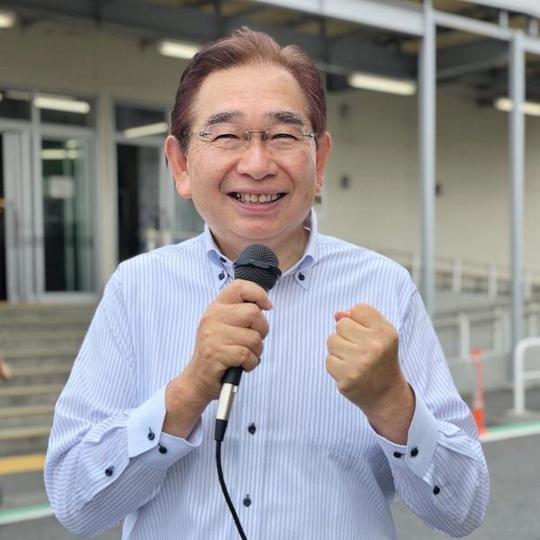 JR大甕駅で県議会報告