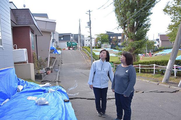 札幌市清田区の液状化被害