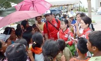日本赤十字のフィリピンでの活動