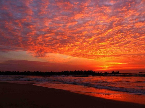 高萩海岸の朝焼け