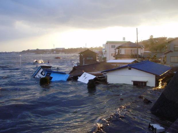 河原子南浜の津波被害