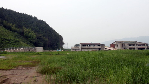 大川小学校と裏山