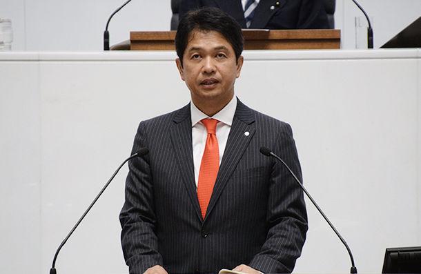 大井川新知事の所信表明演説