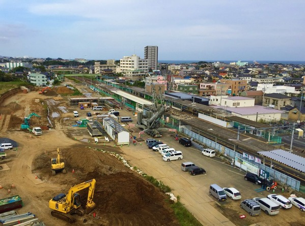 大甕駅西口の再開発