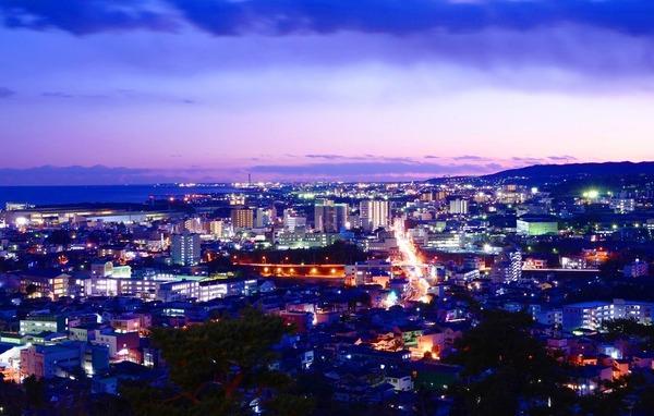 日立市の夜景