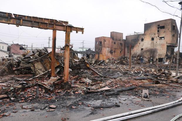糸魚川大火の現状写真(提供:糸魚川市)