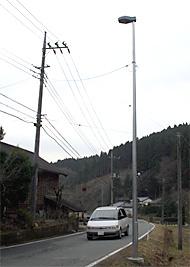 中深荻地区に設置された照明灯