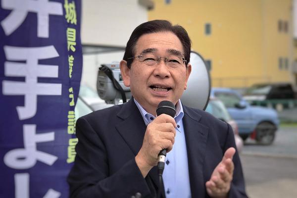 JR大甕駅での県議会報告