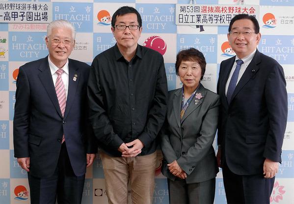 松村克弥監督と小川春樹市長を表敬訪問