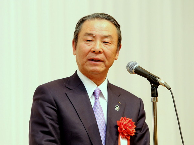 170128公明党新春の集い<加倉井豊邦JA会長の来賓挨拶>
