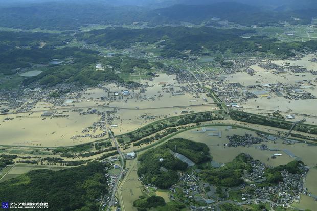 倉敷市真備町上空から:アジア