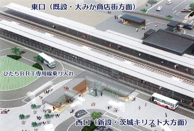 大みか駅整備イメージ