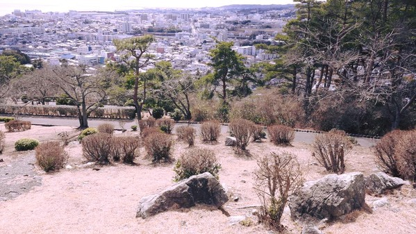 神峰公園山頂の5億年前の花崗岩