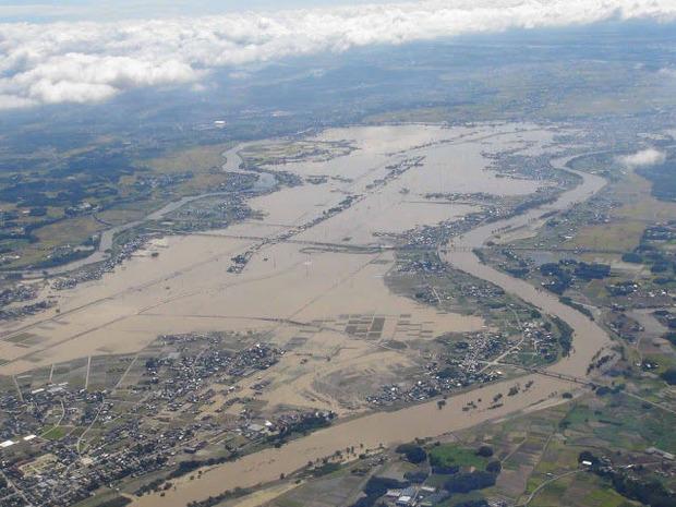 鬼怒川の洪水被害