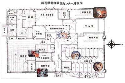 胴縁愛護センターの見取り図
