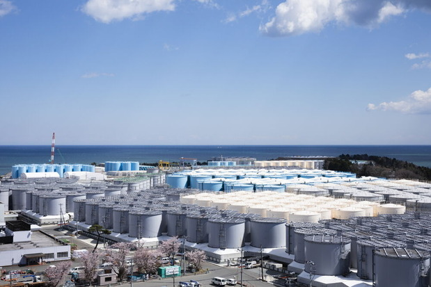 福島第1原発の処理水タンク群<東電のホームページより>