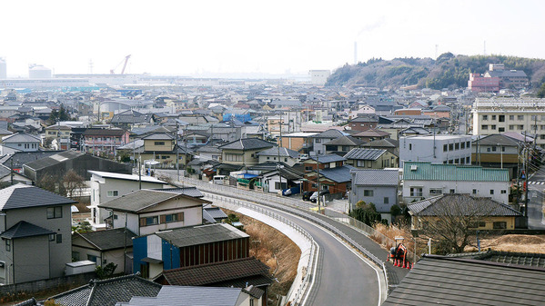 久慈浜一望橋からの眺望