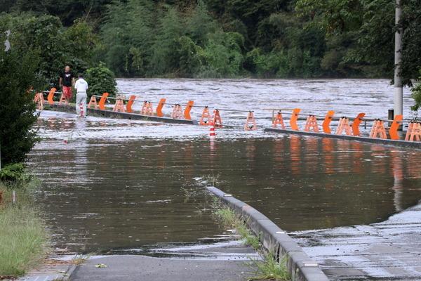 国道118号台風による浸水