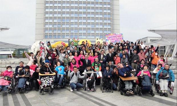 障がい者団体のパレード