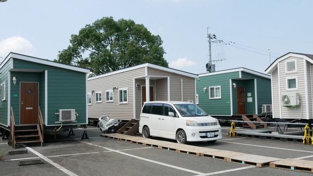 熊本地震の際のトレーラーハウス