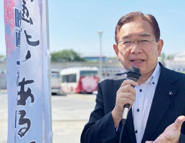 JR常陸多賀駅で県議会報告