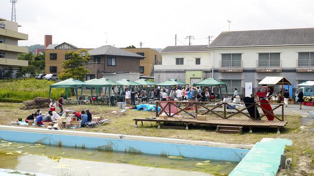 旅のカフェの会場となった鵜の島温泉(2013年6月)