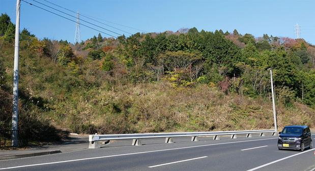 日立山側道路の真弓トンネル入り口