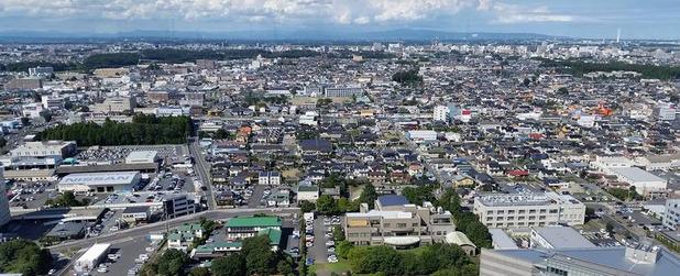 茨城県庁からの眺望