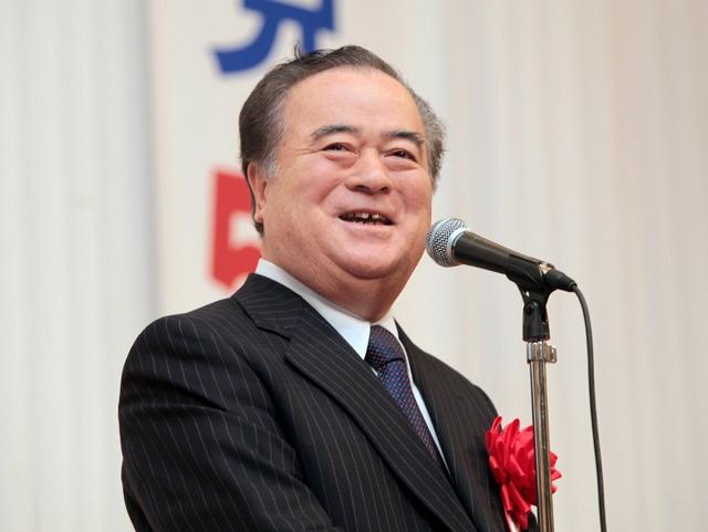 公明党茨城県本部新春の集いで来賓を代表して挨拶する橋本昌知事
