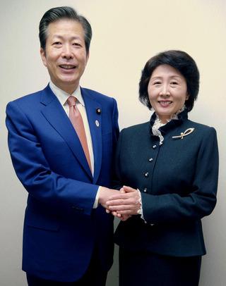 山口那津男党代表と下山田みきこ副支部長
