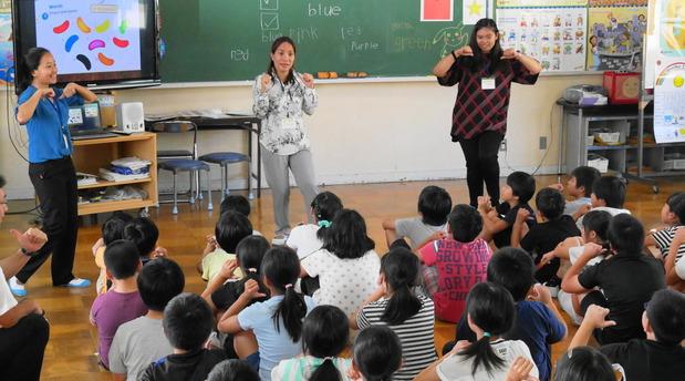 境小学校での英語授業