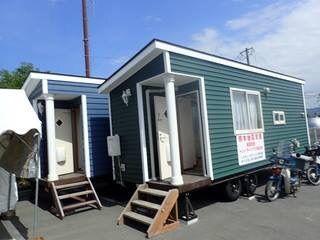 益城町で福祉避難所として活用されるトレーラーハウス