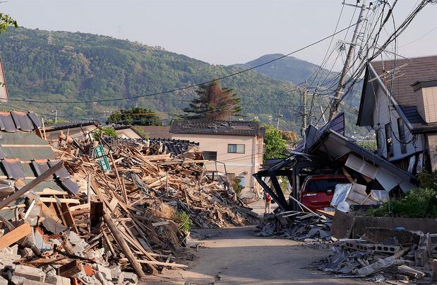 益城町の地震被害