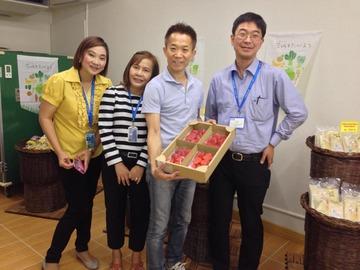 茨城のいちごをタイで販売するっプロジェクト