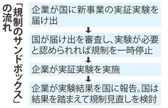 サンドボックス制度の仕組み(日経新聞の記事より)