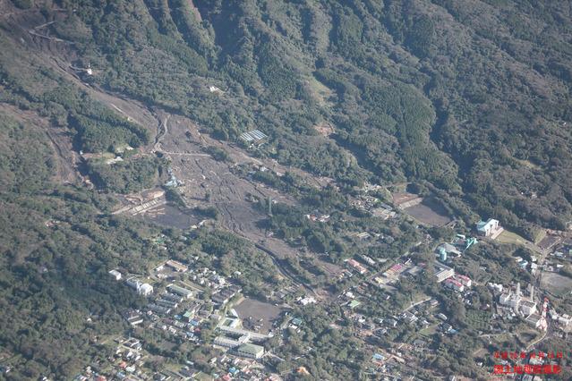 伊豆大島の土石流被害