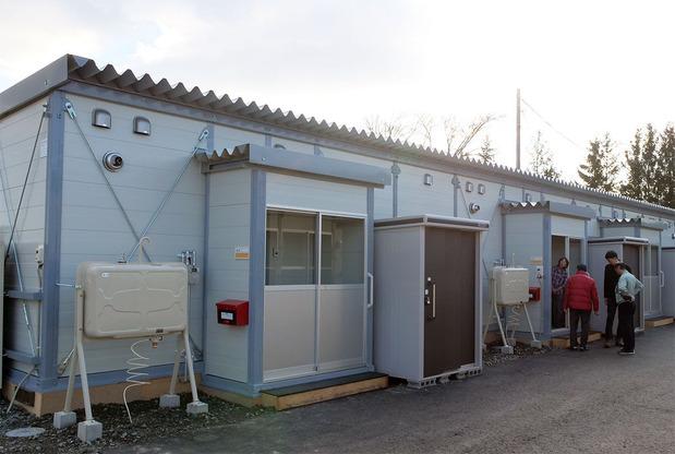 安平町追分地区の仮設住宅