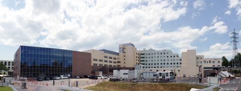 日立総合病院の全景