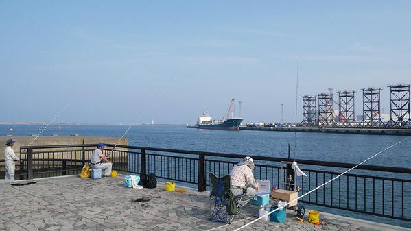 日立港の風景