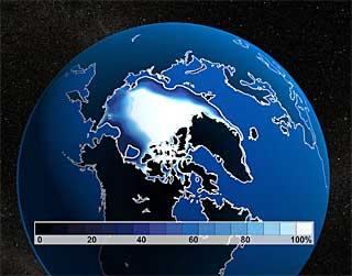 北極海のシュミレーション