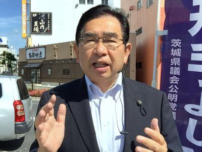 JR常陸多賀駅街頭演説