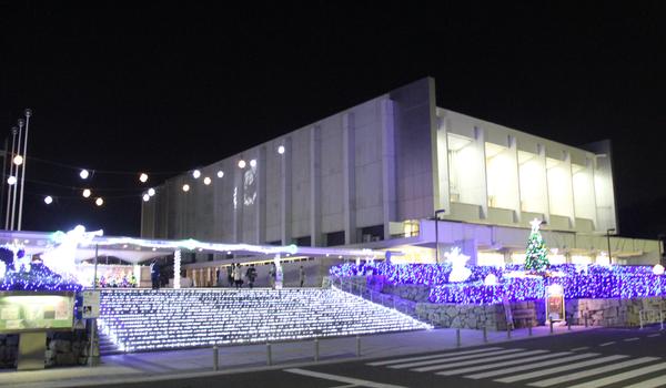 茨城県民文化センターのイルミネーション