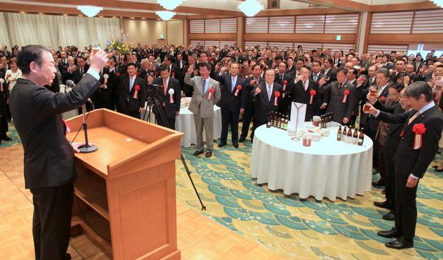 JAいばらき加倉井豊邦会長の発声で乾杯