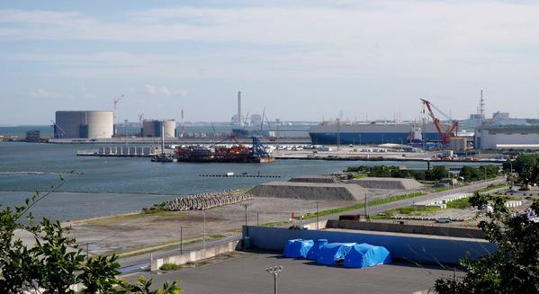 日立港第5埠頭の遠景