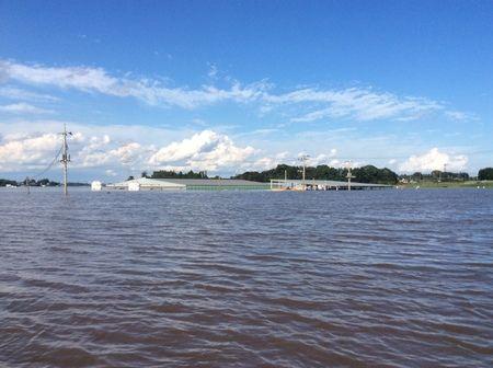 境町の洪水現場
