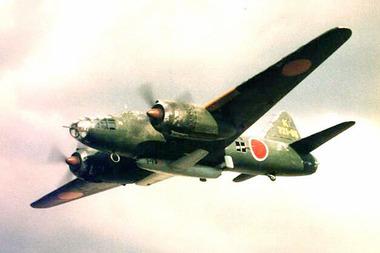 桜花を搭載した一式陸攻