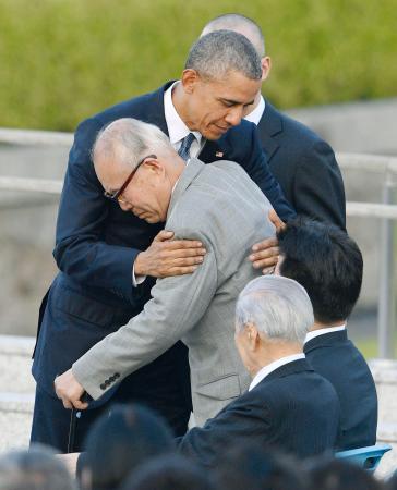 オバマ大統領と被爆者の代表