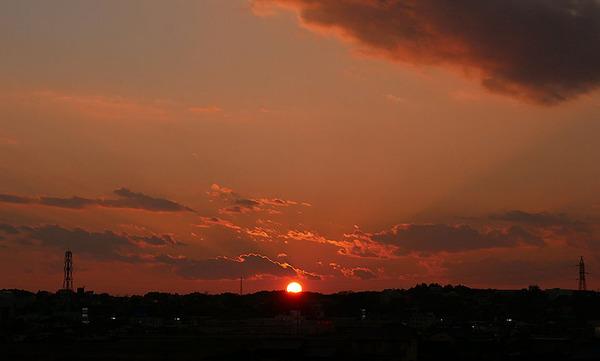 常陸太田市の夕陽