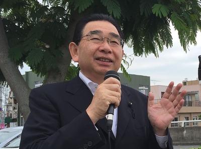 JR大みか駅での県議会報告