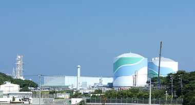 九州電力川内原発遠景